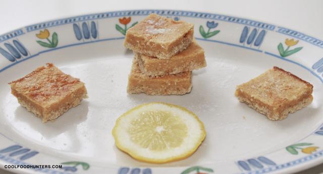 Barritas de limón y avena